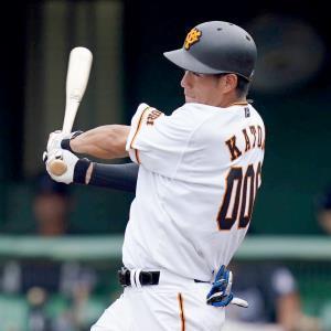 5回無死満塁、加藤壮が適時二塁打を放つ