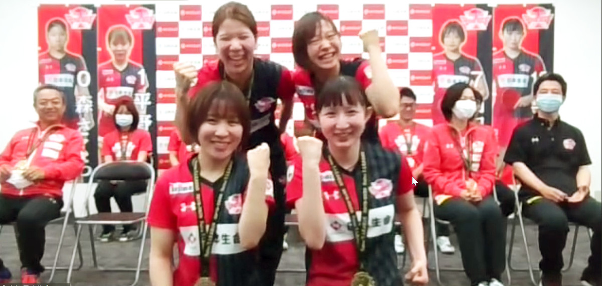【Tリーグ】日本生命がオンライン優勝報告会 平野美宇、来季も「優勝に貢献」誓う : スポーツ報知