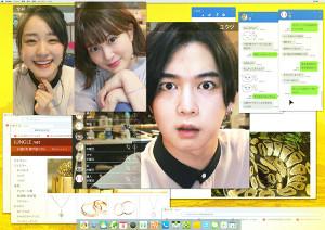 SPドラマ「ダブルブッキング」に主演する千葉雄大と(左から)奈緒、佐津川愛美