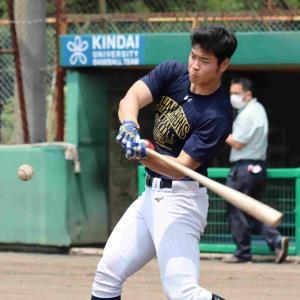 ドラフト1位候補の近大・佐藤輝明が練習を再開 阪神のスカウトが視察 : スポーツ報知