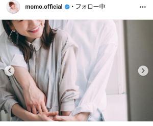 インスタグラムより@momo.official