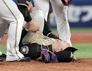 昨年6月18日、DeNA・ソトの打球が直撃して倒れ込んだ日本ハム・上沢直之