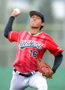 練習試合で好投したNTT西日本・大江