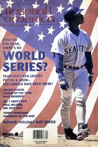 仮想ワールドシリーズを特集したベースボール・アメリカ紙の表紙