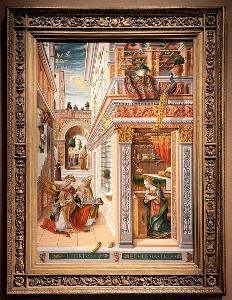 カルロ・クリヴェッリ「聖エミディウスを伴う受胎告知」1486年