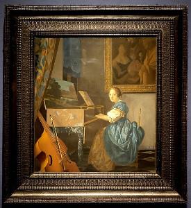 ヨハネス・フェルメール「ヴァージナルの前に座る若い女性」1670-72年頃