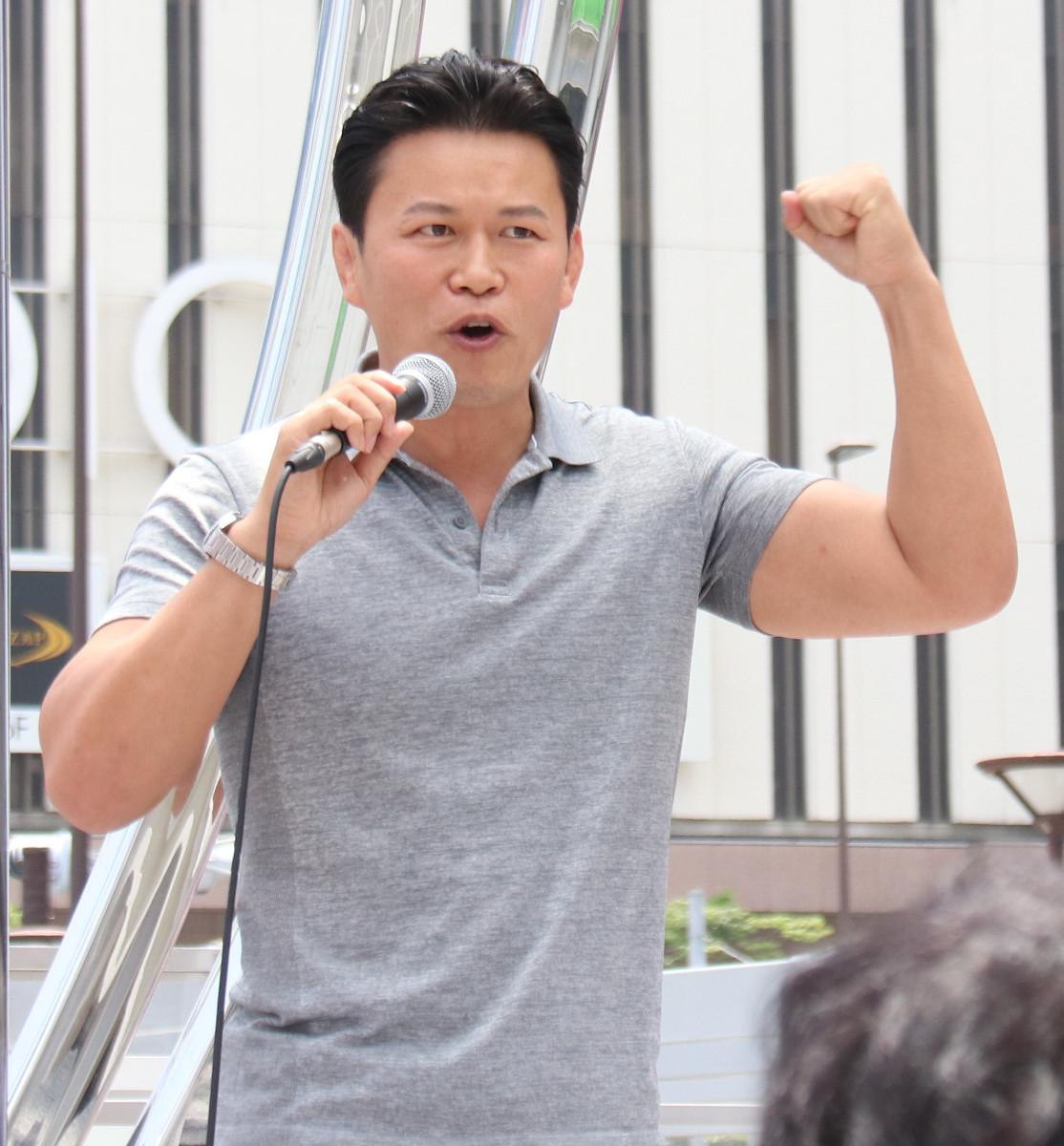 都知事選で山本太郎氏を応援している須藤元気氏