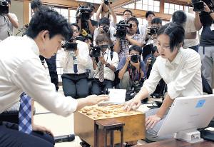 2018年の棋聖戦予選で藤井七段と対戦した里見香奈女流名人