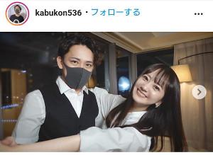 浜田翔子とカブキン(インスタグラムより@kabukon536)