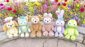 TDS限定のダッフィー&フレンズ(左からクッキー・アン、ジェラトーニ、ダッフィー、シェリーメイ、ステラ・ルー、オル・メル)(C)Disney