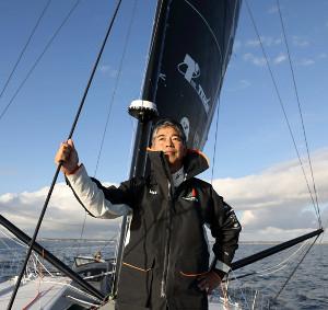 バンデ・グローブの予選大会出場が決まった海洋冒険家の白石康次郎さん=Yoichi Yabe
