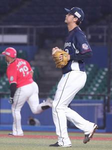 5回2死一、二塁、高橋光成から、左中間に勝ち越しの2点適時二塁打を放ったマーティン