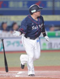6回無死二塁、中飛に倒れた山川穂高