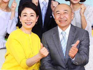 「情報LIVEグッディ!」を盛り上げた(左から)安藤優子キャスター、高橋克実