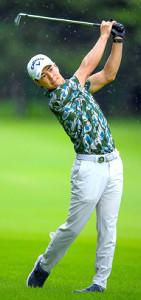 ゴルフパートナーエキシビション第1日をプレーした石川遼(JGTO/JGTO Images)