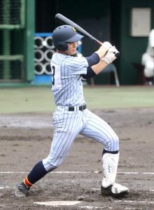 加藤学園・勝又は初回に先制適時打を放ったが無念の降雨ノーゲームとなった
