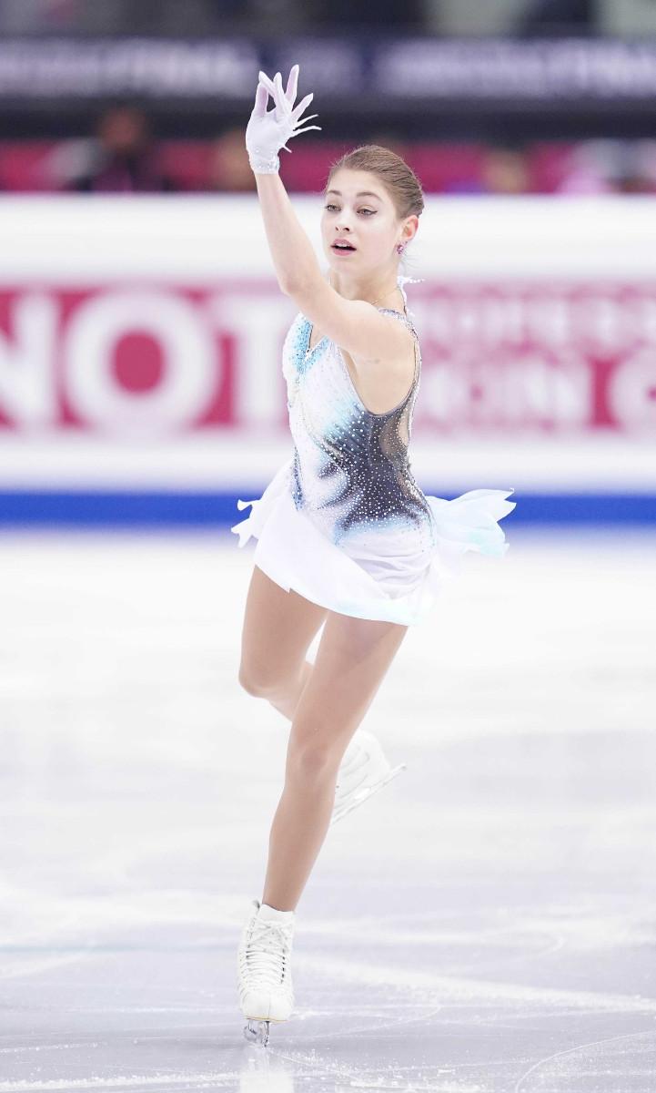 フィギュアスケート四大陸選手権の女子SPで演技するアリョーナ・コルトルナヤ(カメラ・矢口 亨)