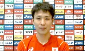 取材に応じたバレーボール男子日本代表・小野寺太志