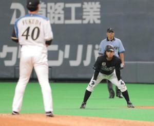 6回1死一、二塁、一塁の代走で出場した鳥谷敬