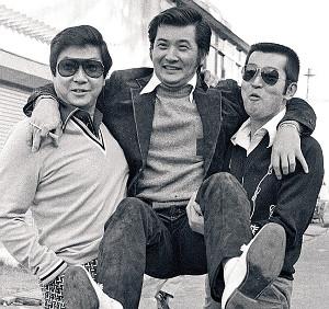 元日活スターの(左から)石原裕次郎さん、小林旭、渡哲也が古巣の日活撮影所に現れる