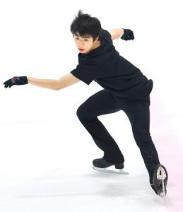 強化合宿で練習する佐藤駿(代表撮影)