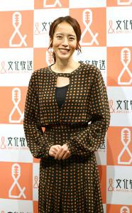 文化放送「なな→きゅう」のパーソナリティーとしての1年を笑顔で振り返った上田まりえ