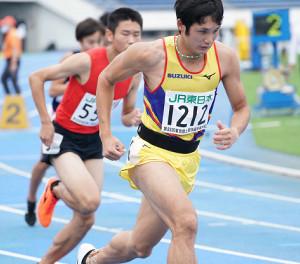 東京選手権男子800メートル予選6組を1着で通過した川元奨