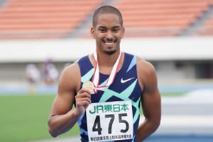東京選手権男子100メートルを制したケンブリッジ飛鳥