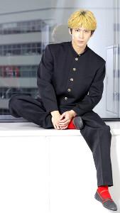 映画『今日から俺は!!劇場版』のインタビュー後、撮影に応じる賀来賢人(カメラ・橘田 あかり)