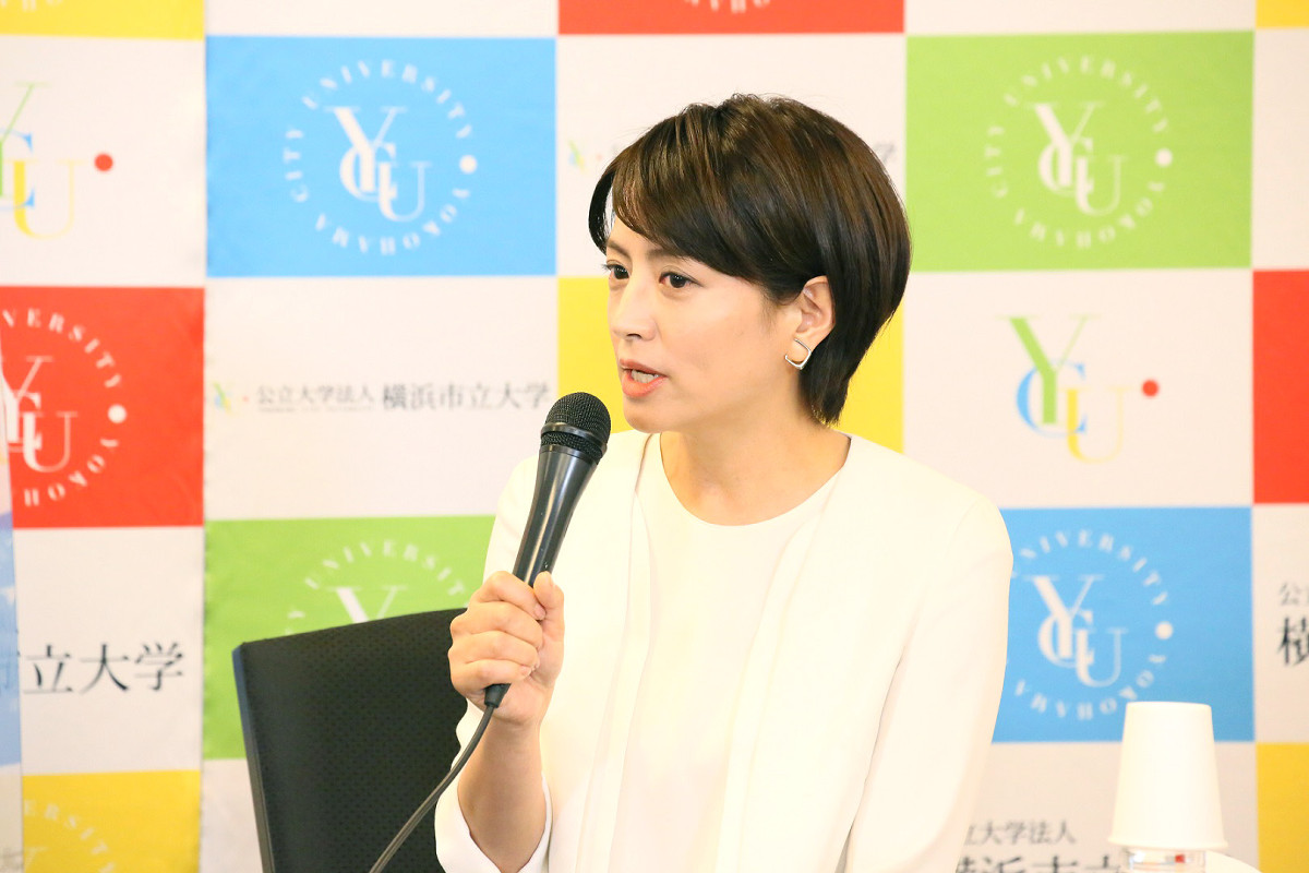 イベントを行った赤江珠緒アナウンサー