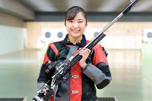 東京五輪でメダル獲得が期待される平田しおり(日本ライフル射撃協会提供)
