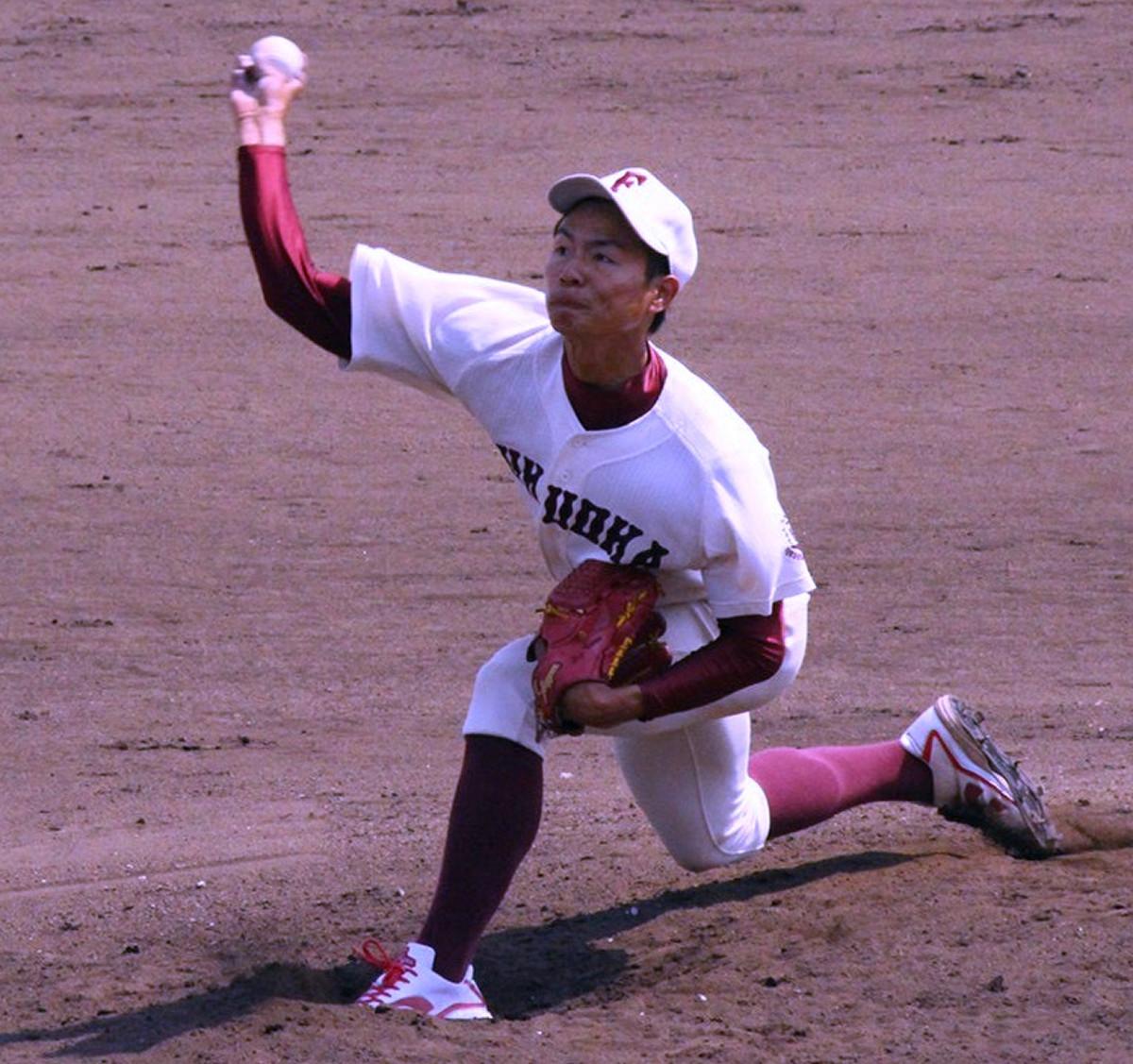 準硬式野球でプロのスカウトの注目を集める福岡大・大曲錬投手