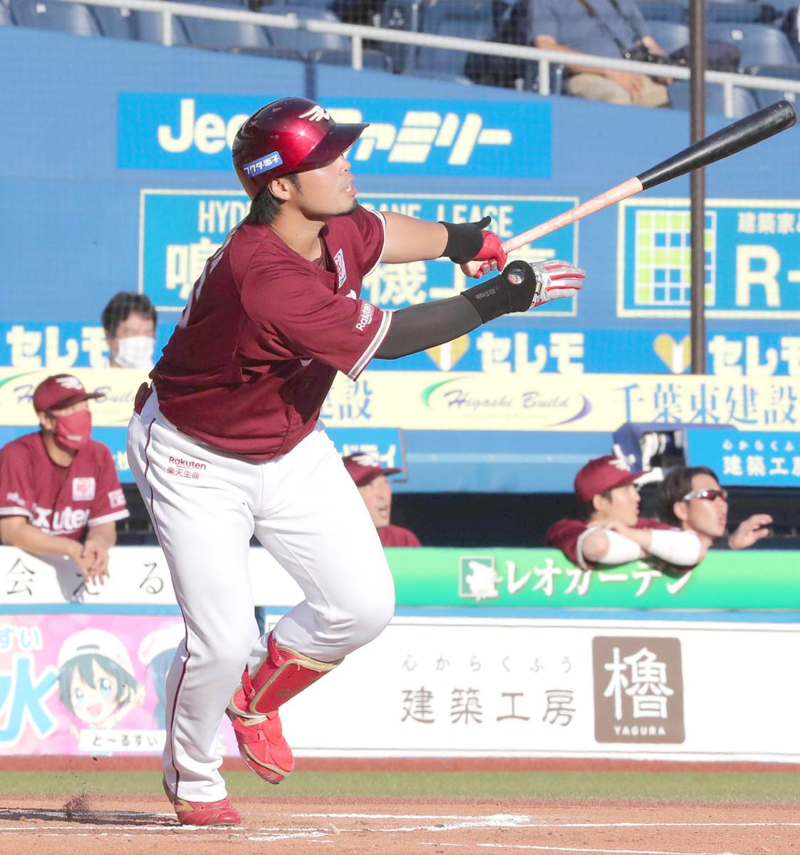 初回2死、中越え5号満塁本塁打を放った内田靖人