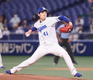 8回1失点で今季初勝利を挙げた中日・勝野