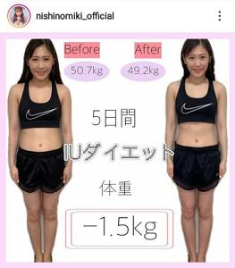 西野未姫のインスタグラム(@nishinomiki_official)より