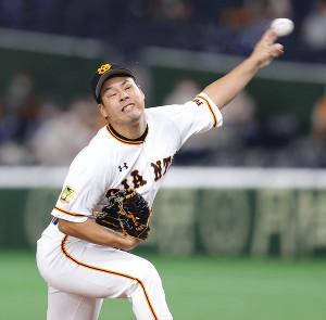3番手で力投する高木京介
