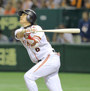 2010年9月22日横浜戦、5回左翼へ2戦連発の31号ソロを放った坂本勇人