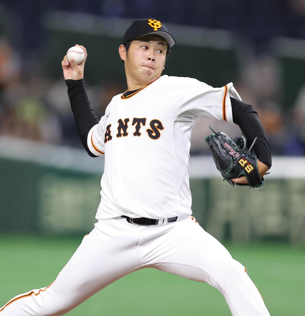 6番手で力投する堀岡隼人