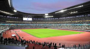 新国立競技場のフィールド