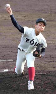 2回を投げ無安打無失点5奪三振の大阪桐蔭・関戸康介