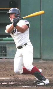 2回無死、大阪桐蔭・池田陵真が左越えに2試合連続となる本塁打を放つ