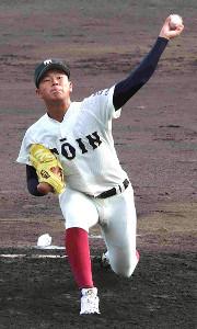 2回を投げ1安打無失点3奪三振の大阪桐蔭・松浦慶斗