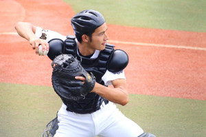 高校時代は捕手として活躍した岡田健史
