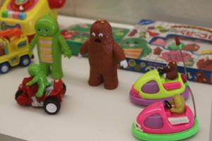 「ガチャピン・ムック ミュージアム」に展示される昔懐かしいおもちゃの数々