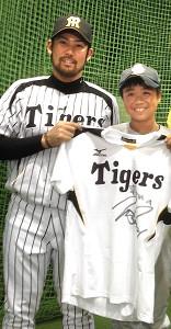 14年夏に甲子園で対面した岩田稔投手と松本京太郎