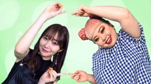 指原莉乃(左)と渡辺直美(C)テレビ東京