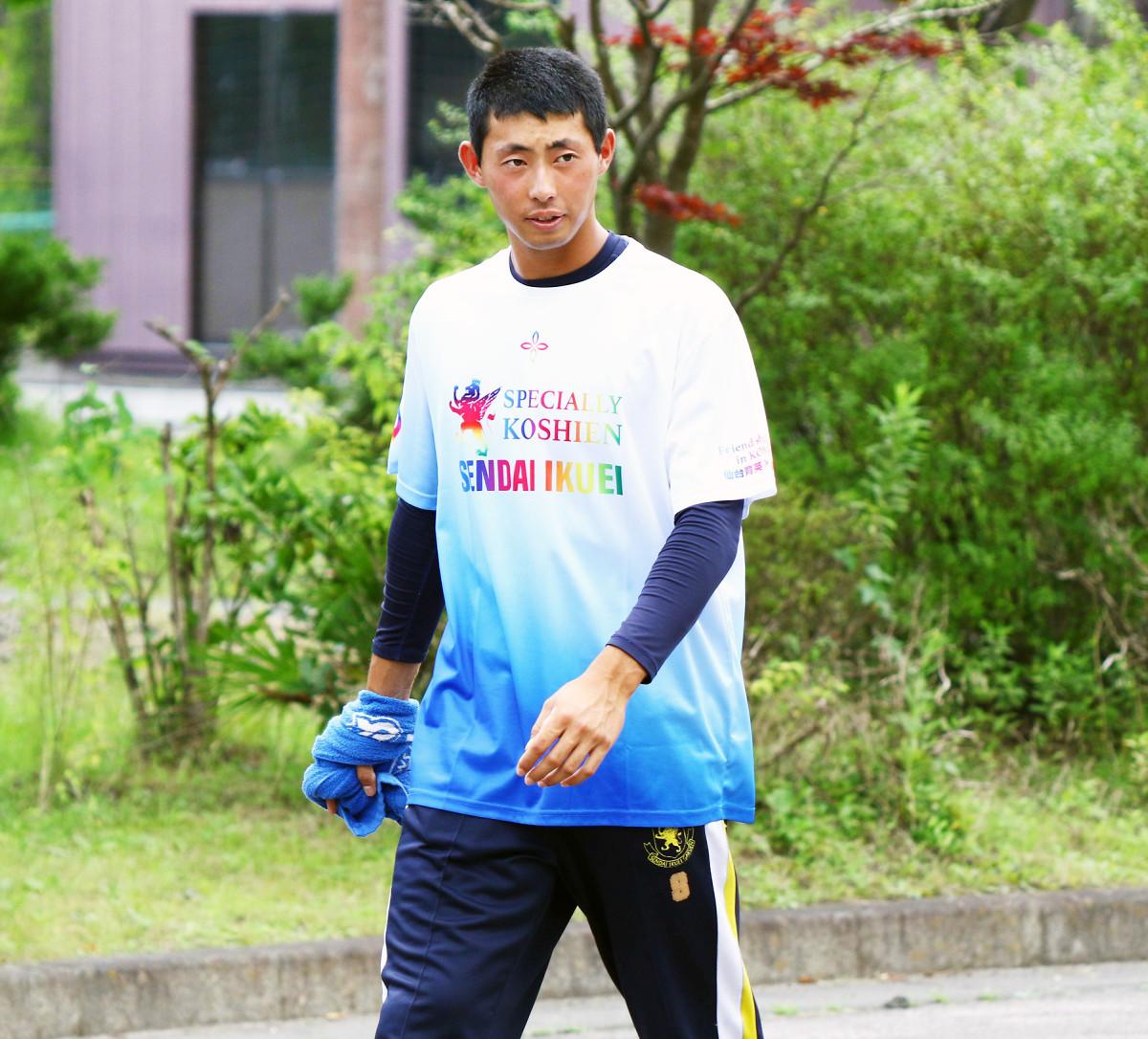 ドラフト候補・入江は甲子園でのアーチに意欲を示した