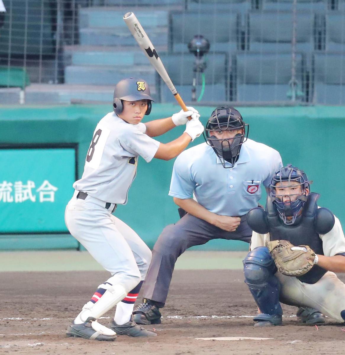 9回1死、代打出場した松本京太郎