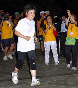 24時間テレビマラソンで、ゴールまで残り4キロで番組が終了、その後ゴールした山田花子