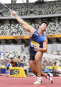 男子やり投げで84メートル05で優勝のディーン元気(代表撮影)